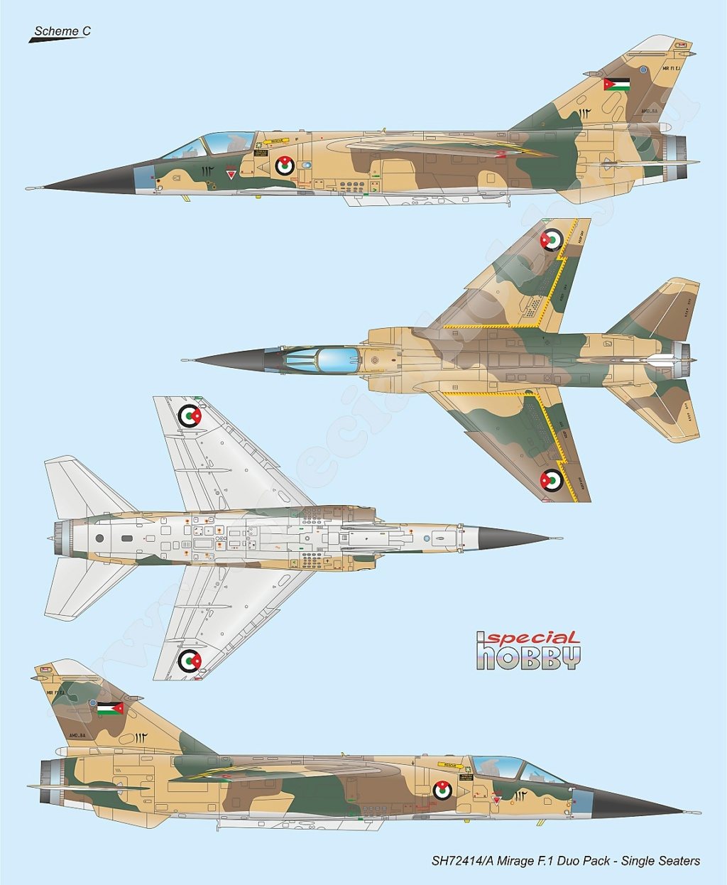 Boite combo Mirage F1 Special Hobby 72414 Sh724118