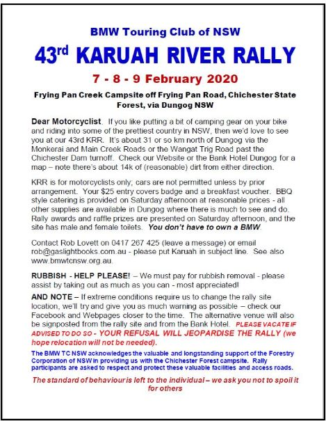 43rd Karuah River Rally 7th - 9th of February 2020  43rd_k10