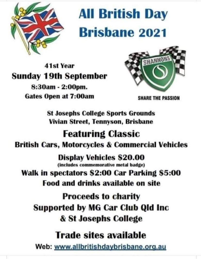 Date Claimer  -  All British Day Brisbane  Sunday 19th September   All_br11