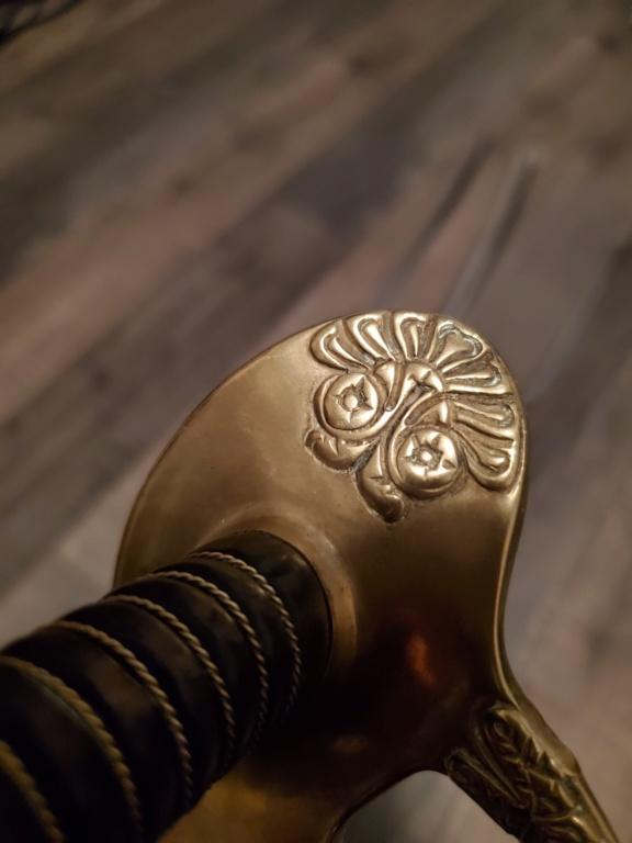 Décoration des sabres d'officier modèles 1822, 1854, 1855, 1882 et 1822-99 20200814
