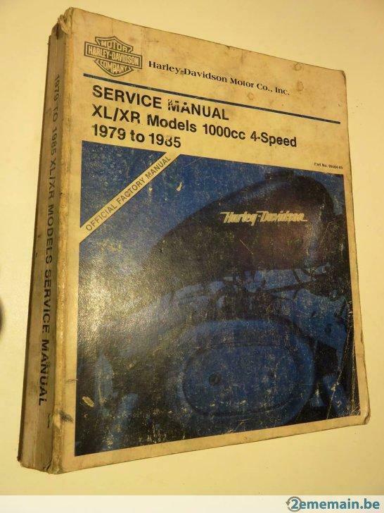 Harley-Davidson Service Manual XL/XR 1000cc 1979-1985 Manuel10