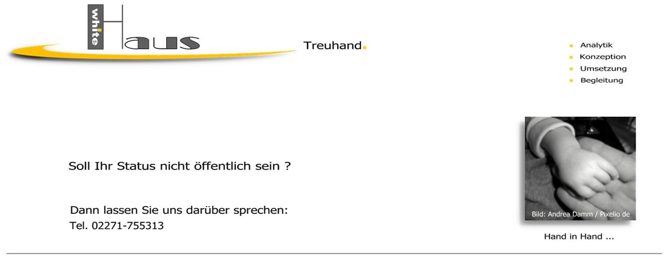 white Haus Treuhand - Abgeschirmt + Abgesichert