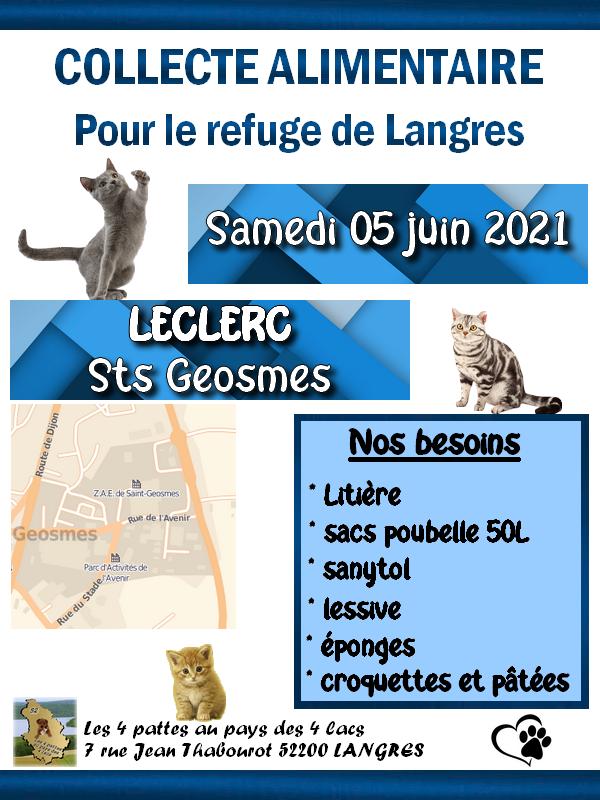 Collecte alimentaire : LECLERC de Sts Geosmes Collec10