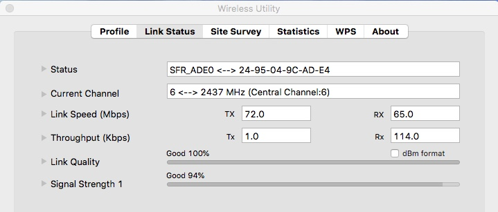 TP-LINK WIFI Network macOS 116