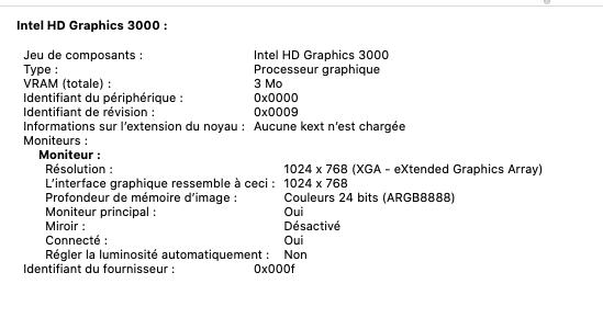 Catalina : HD3000 (et Nvidia force 540M) 137