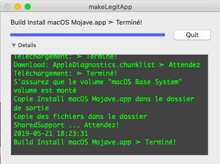 makeLegitApp  ( Créer votre Install macOS Mojave.app ) 215