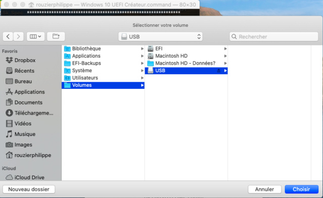 Windows 10 UEFI Créateur 515