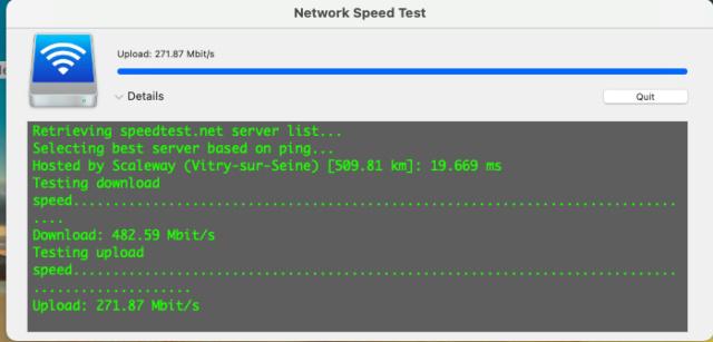 Network Speed Test Capt1048
