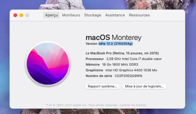 macOS Monterey 12.0 / 12.1 / 12.2 / 12.3 / 12.4 / 12.5 / 12.6 Beta - Page 7 Capt1052