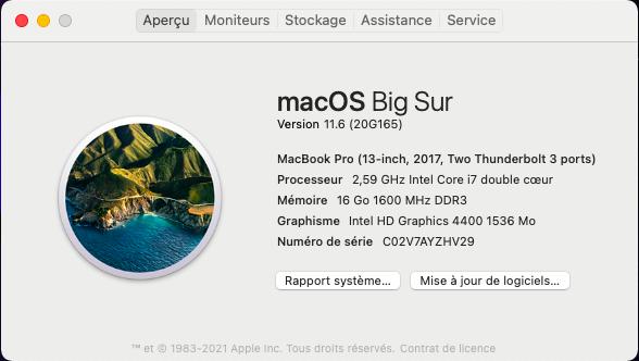 Mise à jour macOS Big Sur 11.6 ( 20G165 ) Capt1066