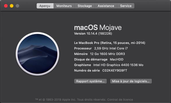 macOS Mojave 10.14.4 Finale version (18E226)  Captu141