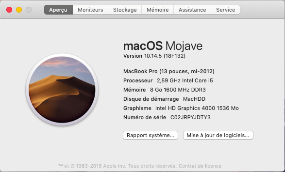 macOS Mojave 10.14.5 Finale version  (18F132 ) Captu186