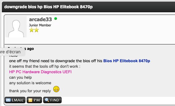 [Résolu] Downgrade Bios HP Elitebook 8470p Captu287