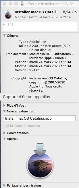 [RESOLU] Plantage mise à jour Catalina 10.15.4 Captu523