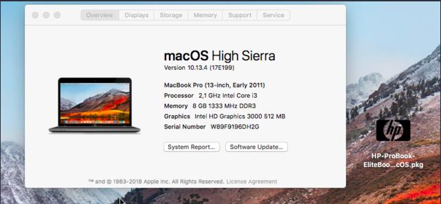 Problème Clean Install High Sierra sur Probook 4530s HD3000 Captu544