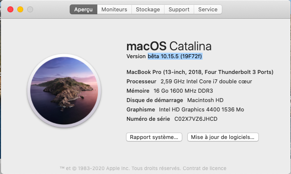 macOS Catalina 10.15 Developper Beta - Page 7 Captu552