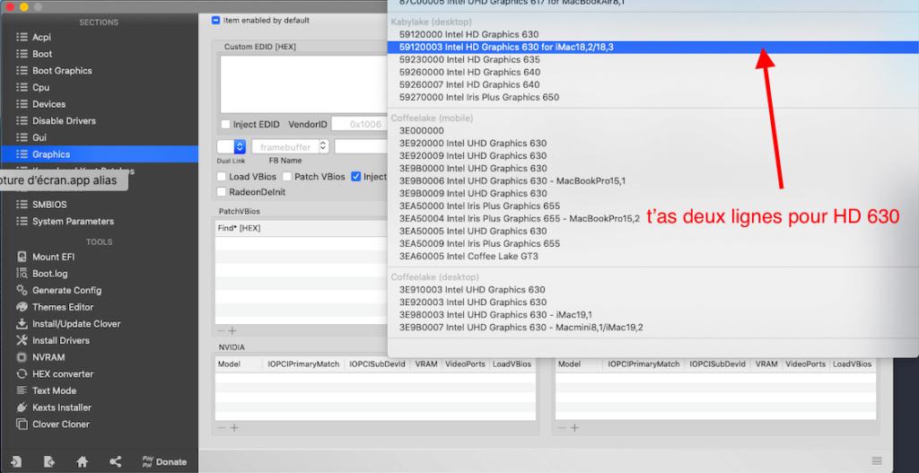 Probleme graphic  Intel UHD 630 Captu557