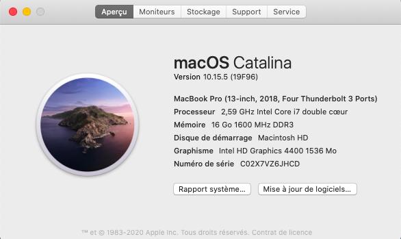 Mise a jour macOS Catalina 10.15.5 (19F96) Captu618