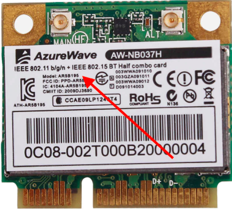 comment activer  carte wifi   AZUREWAVE AW-NB037H  Captu636