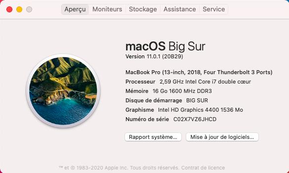 macOS Big Sur 11.0.1 (20B29) Finale version Captu812