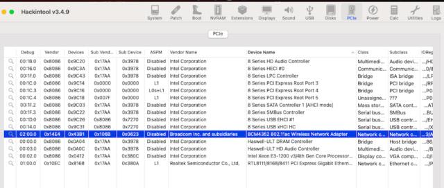 Probléme WIFI BCM94360NG Captu853
