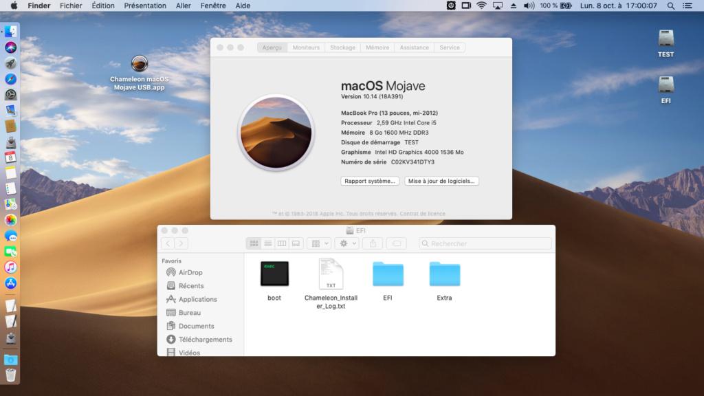 Chameleon macOS Mojave USB Captur41