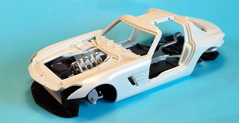 Mercedes-Benz SLS AMG, Revell, 1/24 (07100) Comp1544
