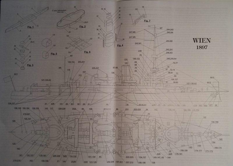 k.u.k. Schlachtschiff SMS Wien 1897, JSC, 1:250 geb. von Diwo58 Comp_603