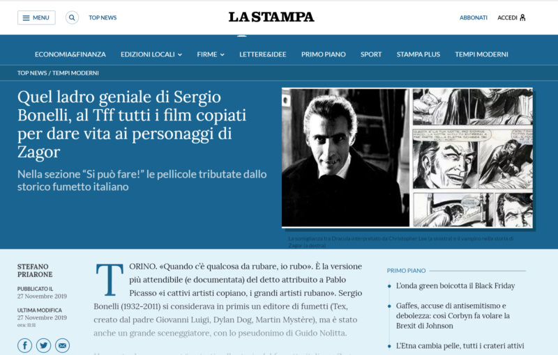 Articoli su quotidiani e riviste riguardanti Zagor  Screen56
