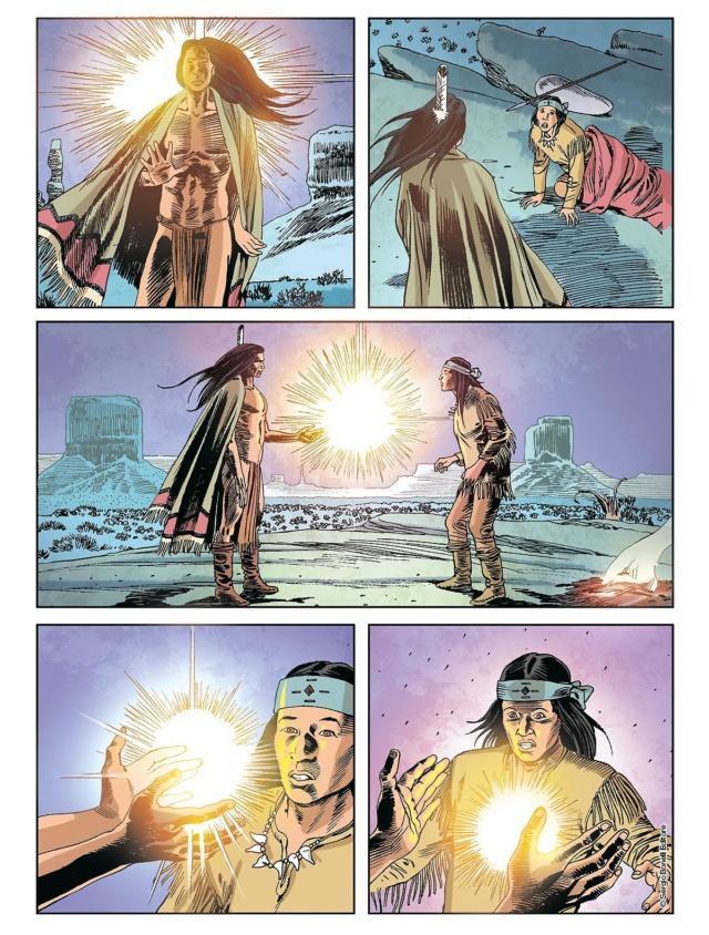 L'apache bianco e altre storie (Tex color n.14) Tex_co13
