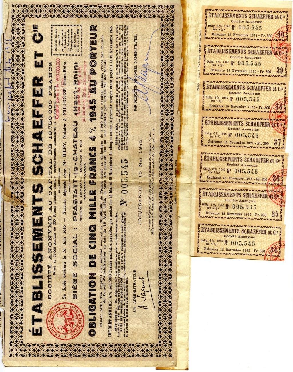 À propos d'obligations datant de 1945 Schaef10