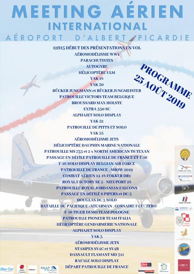 """MEETING AERIEN Aérodrome """"ALBERT (LFAQ)"""" dans la SOMME le 25/08/2019 1meeti10"""