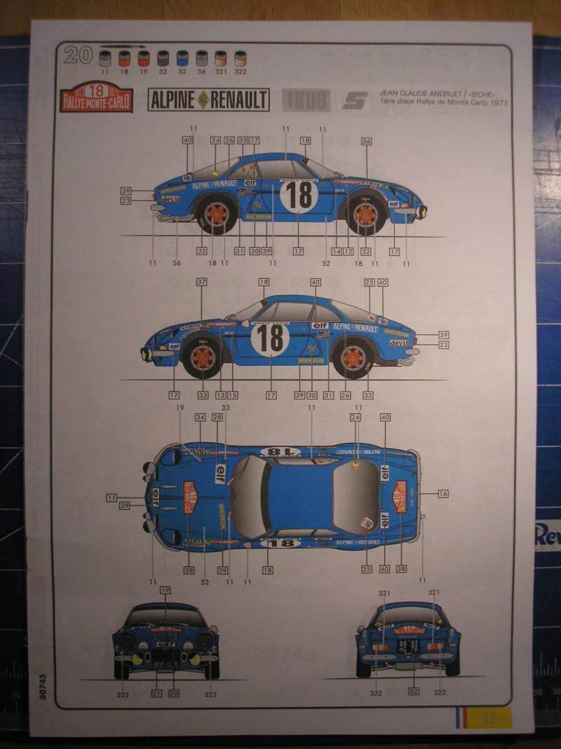 ALPINE A 110 S BERLINETTE 1/24ème Réf 80745 et 85745 Alpine24