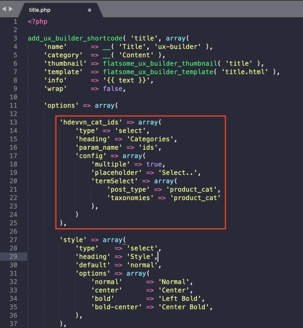 [Thủ thuật] Thêm Danh mục vào Title ux builder flatsome Screen10