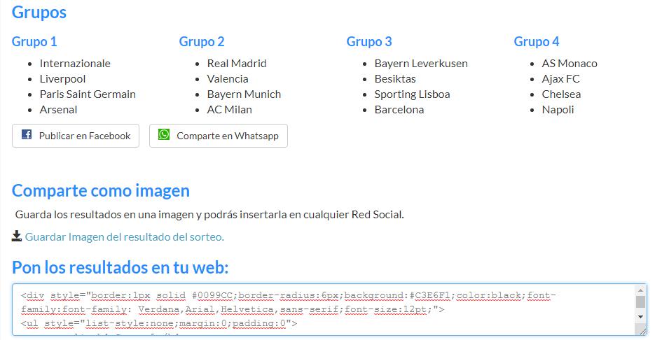 Sorteo de Grupos Ucl10