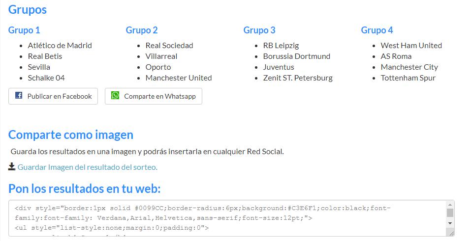 Sorteo de Grupos Uel11