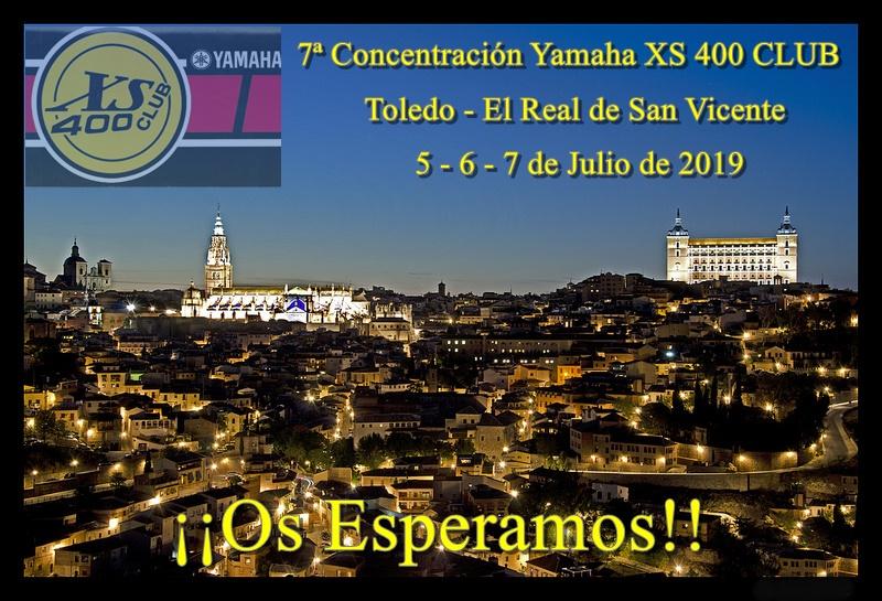 7ª Concentración XS 400 CLUB (2019). TOLEDO Cartel10