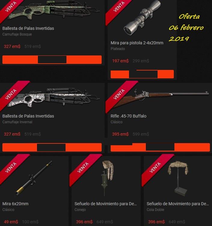 OFERTA TIENDA: 06.Feb.19: Ballestas/ Tripode/Rifle 45-70/ Ropa Bosque/ Pistola Ballesta 06_feb10