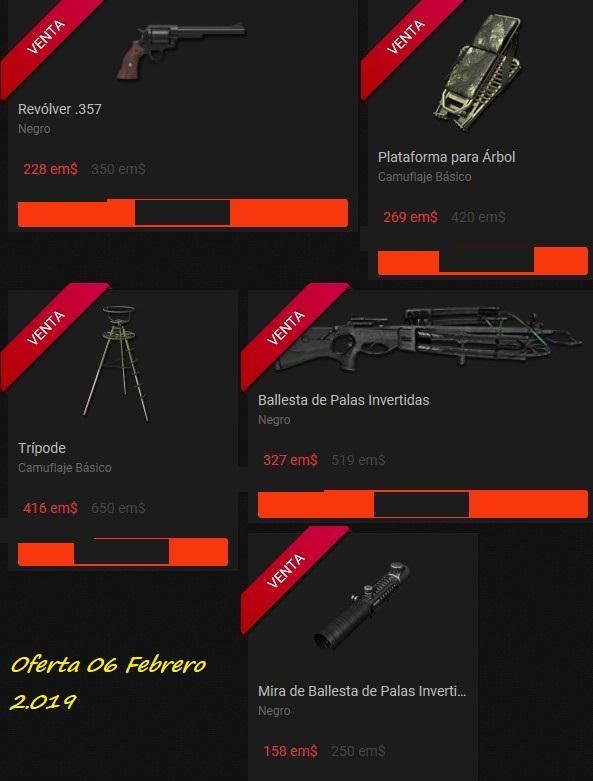 OFERTA TIENDA: 06.Feb.19: Ballestas/ Tripode/Rifle 45-70/ Ropa Bosque/ Pistola Ballesta 06_feb11