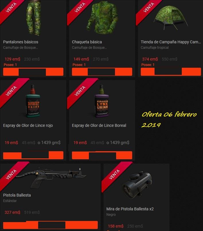 OFERTA TIENDA: 06.Feb.19: Ballestas/ Tripode/Rifle 45-70/ Ropa Bosque/ Pistola Ballesta 06_feb12