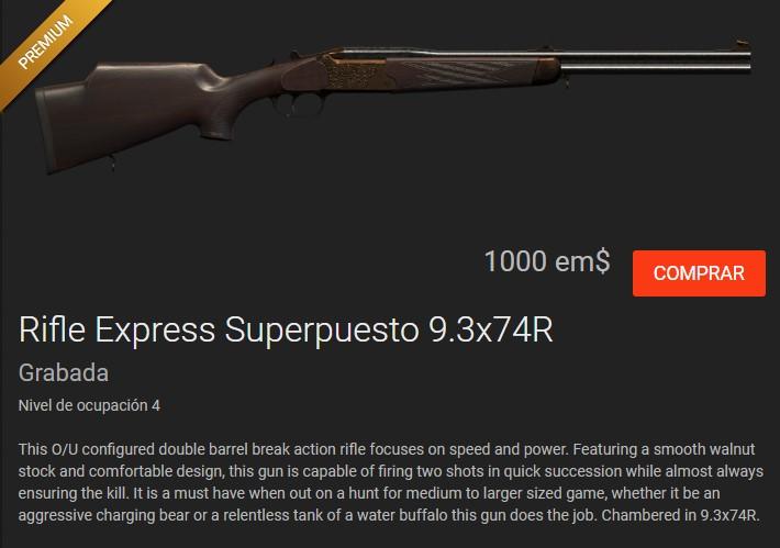 OFERTA TIENDA: PERRO + PLINKINGTON+ ESCOPETA PALANCA Cal.10 Y RIFLE NUEVO 9,3X74R Rifle_15