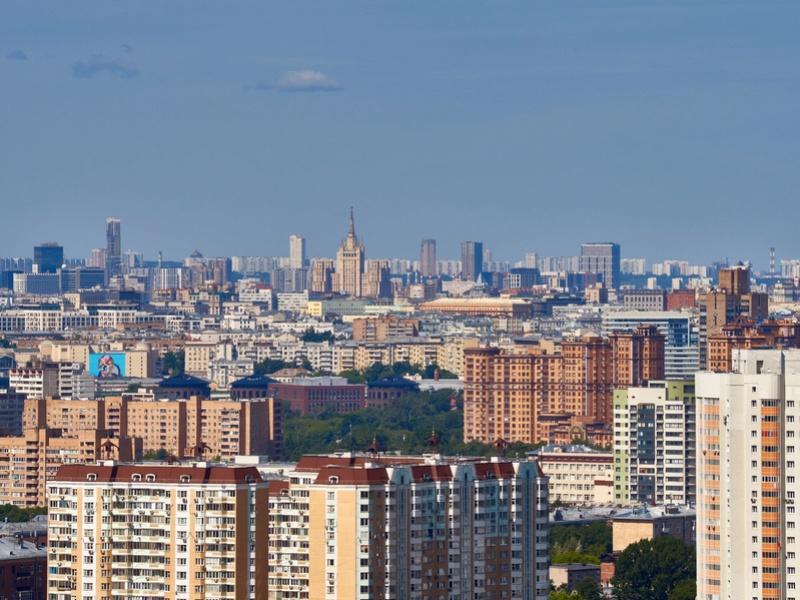 """Реальные (не рекламные) фото видов из окон 30-го этажа ЖК """"Золотая звезда"""" (панорамы) - на город и на Измайловский парк 7ytecq16"""