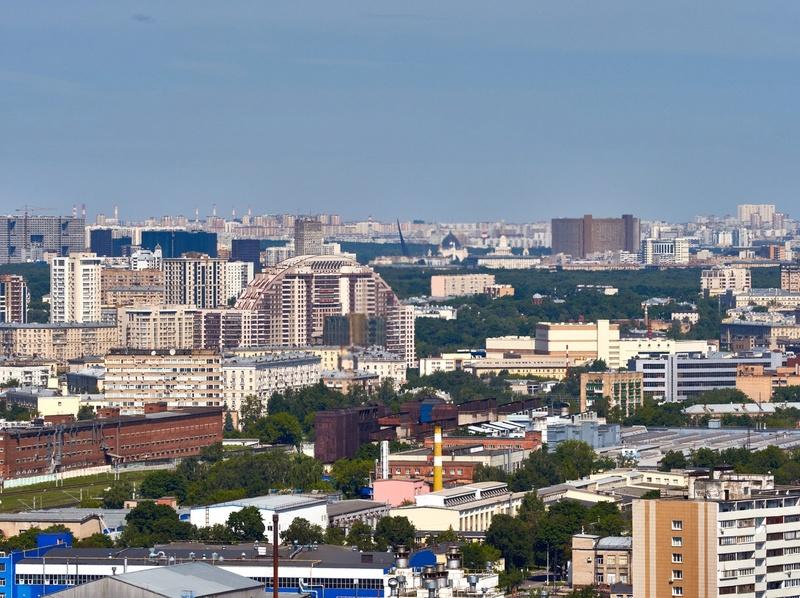 """Реальные (не рекламные) фото видов из окон 30-го этажа ЖК """"Золотая звезда"""" (панорамы) - на город и на Измайловский парк 7ytecq19"""