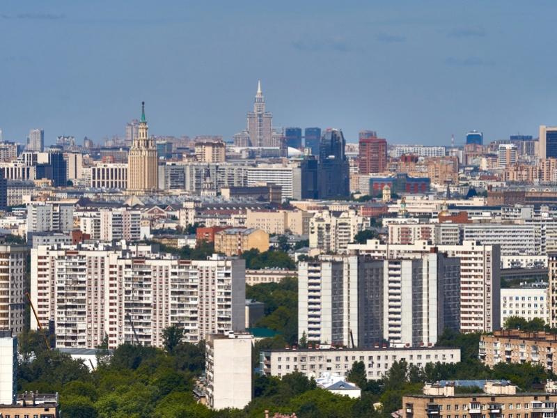"""Реальные (не рекламные) фото видов из окон 30-го этажа ЖК """"Золотая звезда"""" (панорамы) - на город и на Измайловский парк 7ytecq20"""