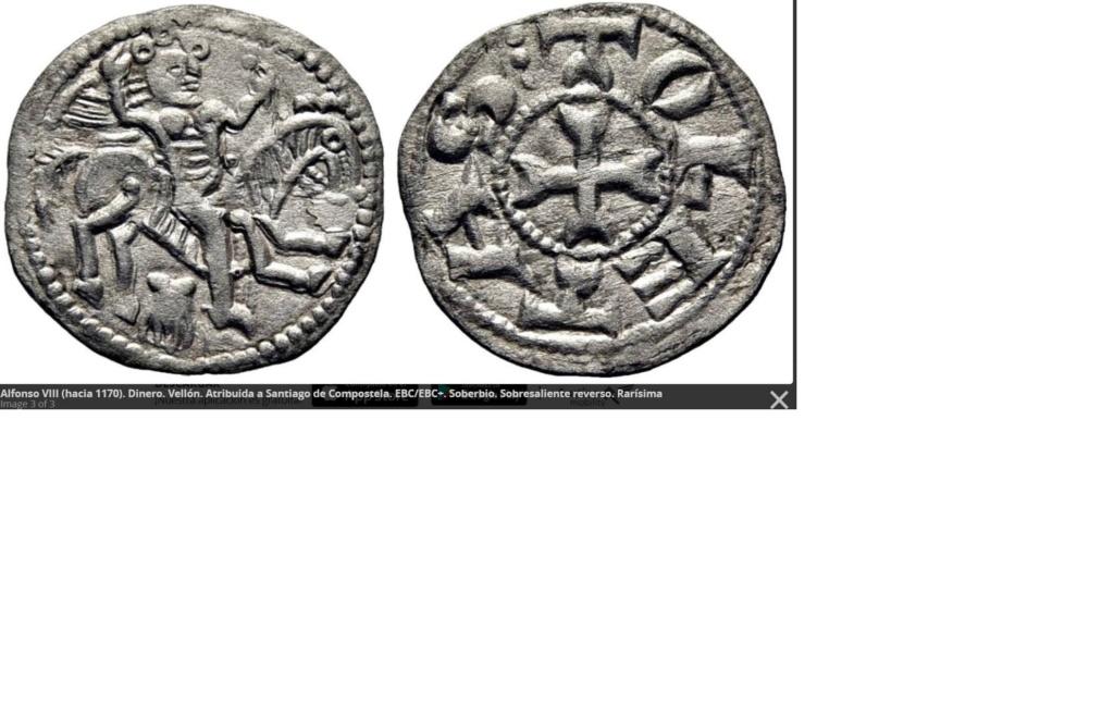 Dinero burgalés de Alfonso VIII. * - * Dinero11