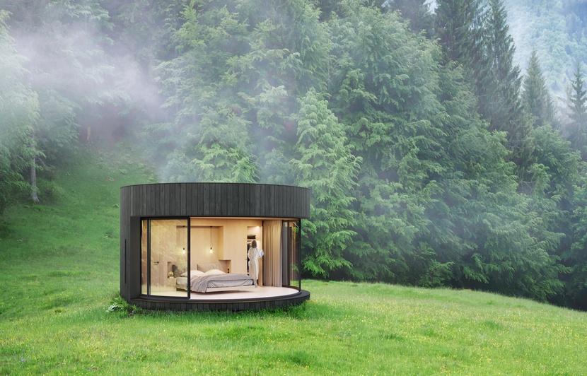Lyon: Ils fabriquent des chambres aménagées à poser dans la nature 830x5312