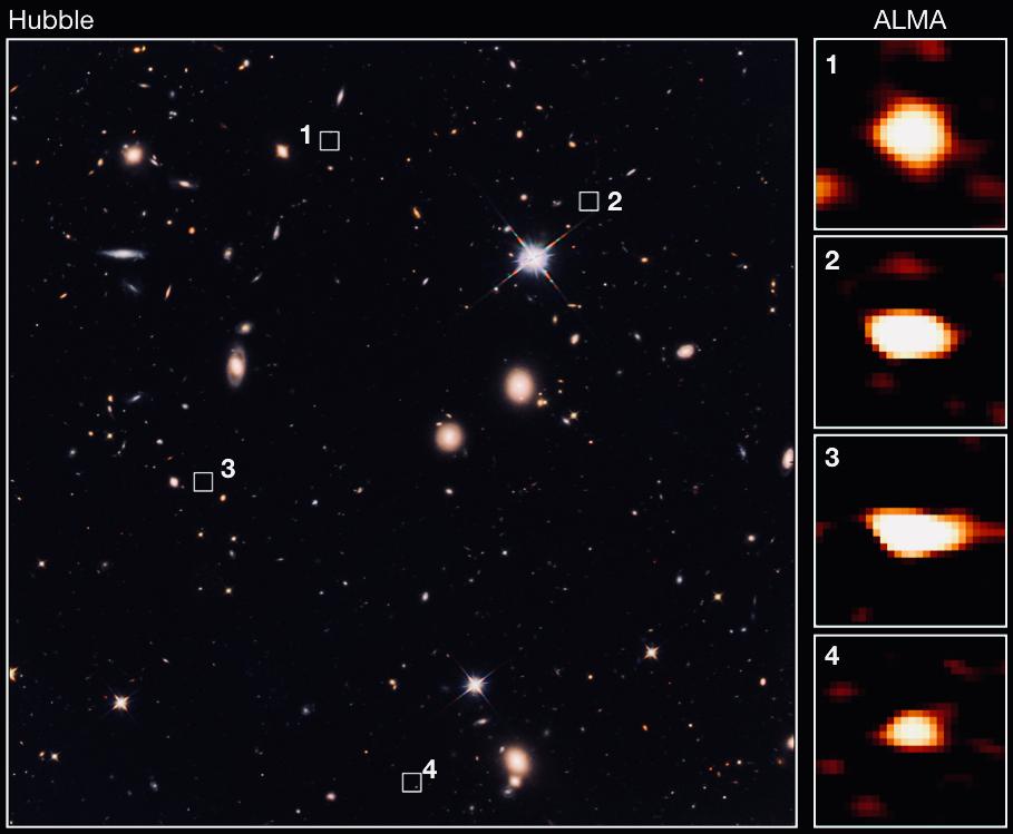 La découverte de 39 galaxies invisibles questionne nos théories sur l'évolution de l'Univers Alma2010