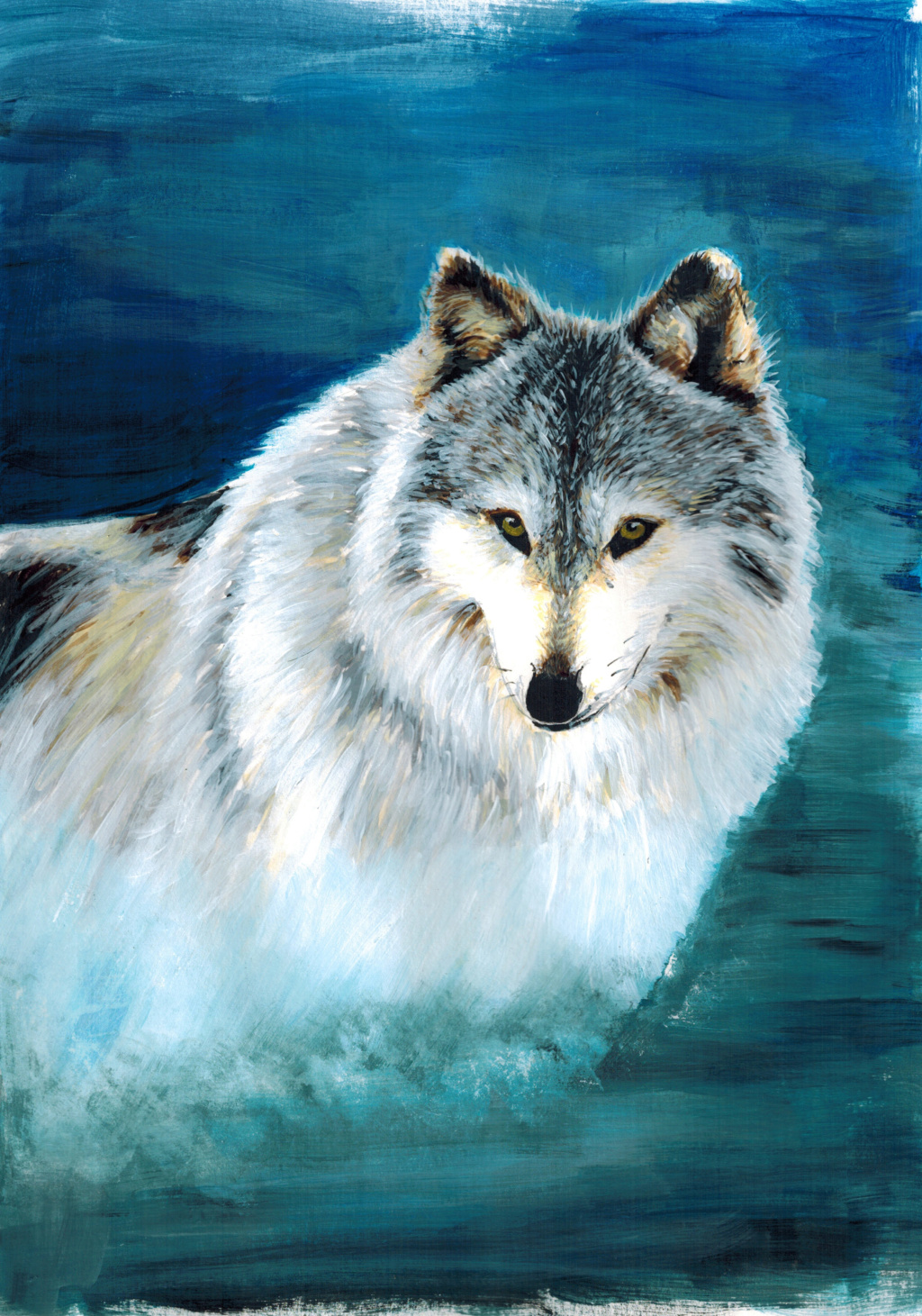 petites peintures Loup2910