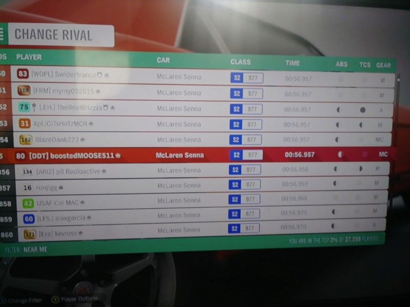 *RESULTS UP* FH4 Time Attack | Monthly Rivals - McLaren Senna 20181010