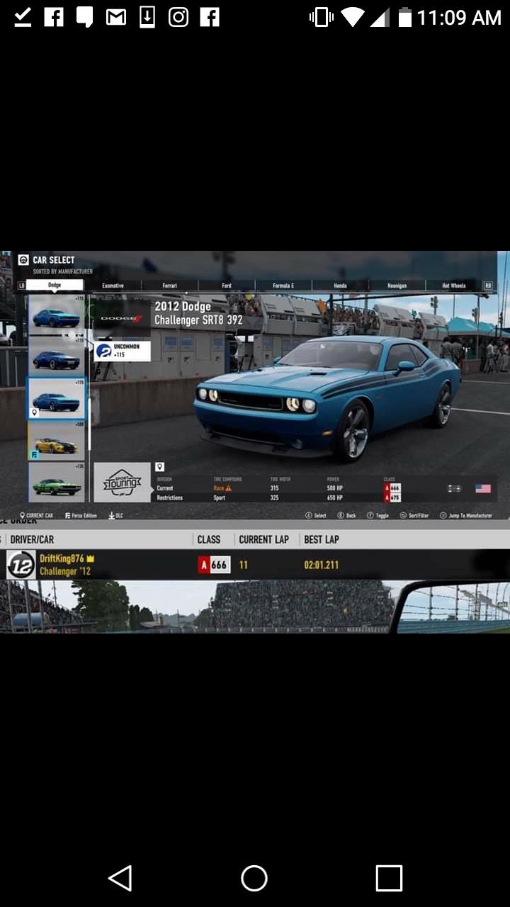 FM7 Time Attack | 500 HP (FWD/RWD/AWD) - Watkins Glenn Full Circuit ALT 20190519
